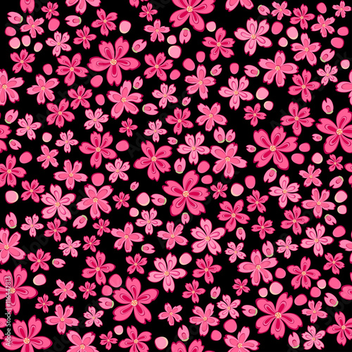 Natural Print Seamless Ditsy Floral Pattern Flowers Background