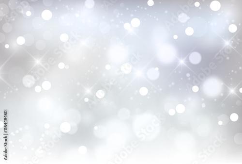 Obraz 雪 クリスマス 光 背景 - fototapety do salonu