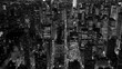 Aerial view of new york city skyline. cityscape metropolis.
