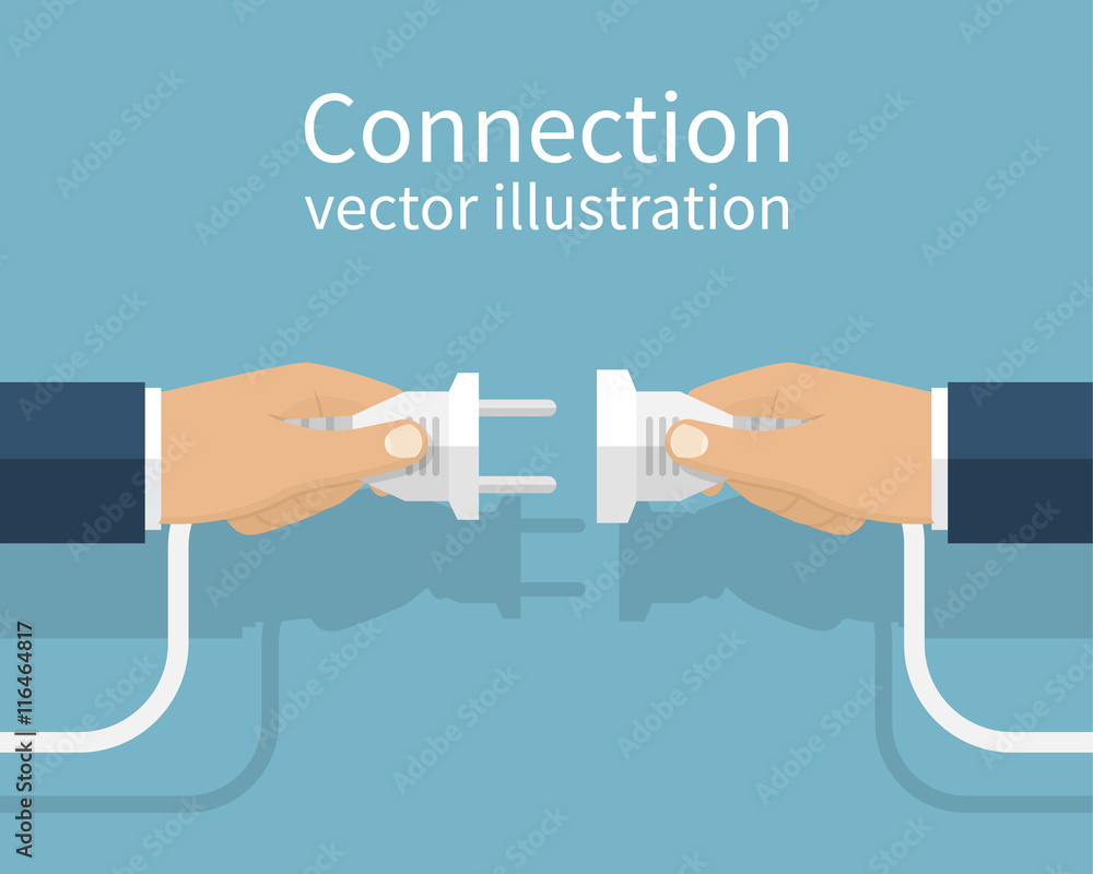 Fototapeta Business connection concept