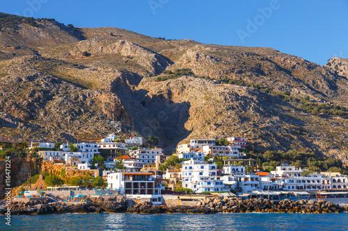 Keuken foto achterwand Antwerpen Small town Chora Sfakion, south of Crete, Greece