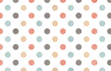 Watercolor gray, pink, beige and blue polka dot background. - 116471687