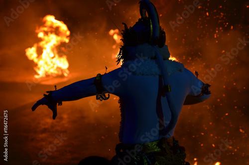 Obraz na plátně The Kecak Fire Dance at Uluwatu Temple, Bali, Indonesia..