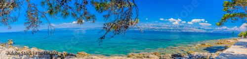 Recess Fitting Panorama Photos Croatia coast summer panorama. / Colorful landscape of Croatian coast, capture on Island of Brac, panorama view.