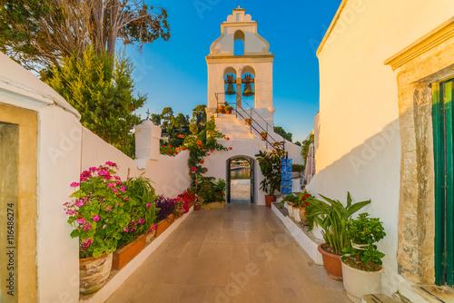 Fotografia Vlacherna monastery entrance part of historical culture site of Panay village in
