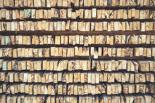Texture Stack Of Wood Logs For Background