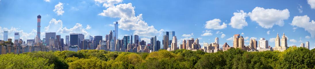 Fototapeta Manhattan skyline panorama with Central Park in New York City