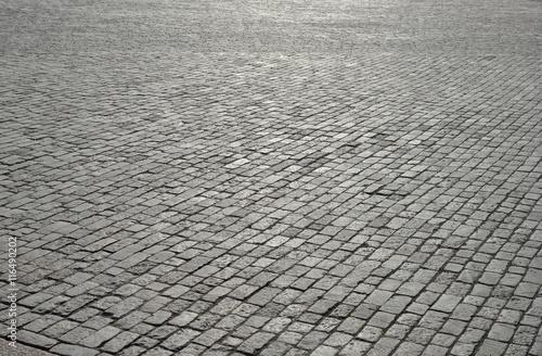 Stampa su Tela Old cobblestone pavement.