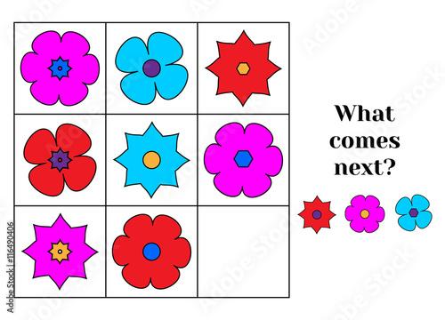 Fotografía  What comes next educational children game