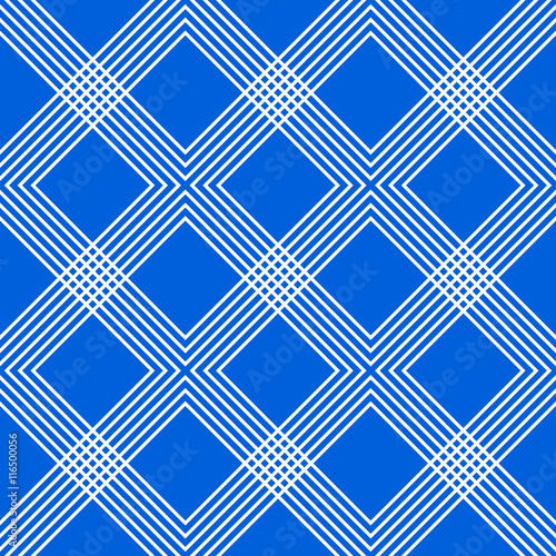 Fotografie, Obraz  Minimal geometric pattern with intersecting lines forming interl