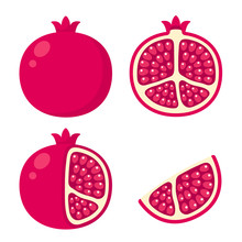 Pomegranate Illustration Set