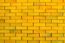 Yellow Brick Wall Horizontal Background