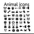 Animal icon illustration design