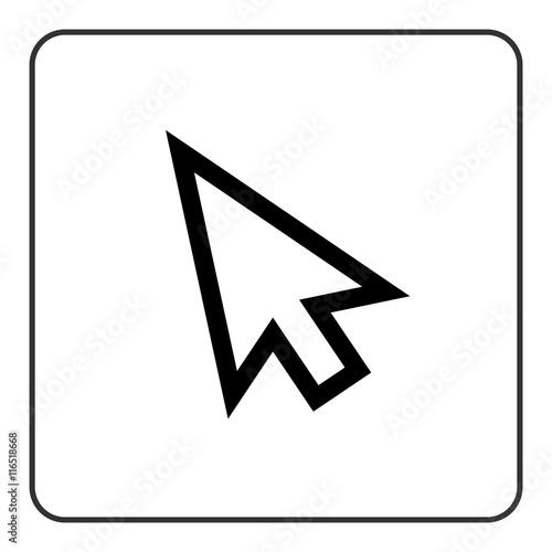 Arrow pointer sign  Cursor mouse web icon  Click point button  Black