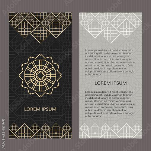 Obraz Wedding Invitation Card Arabic Mandala Blue Green