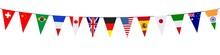Banner. Garlands, Pennants. International