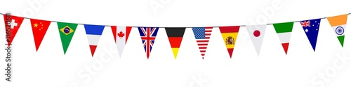 Fotografie, Obraz  Banner. Garlands, pennants. International