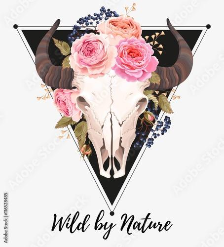 bawolia-czaszka-ozdobiona-kwiatami
