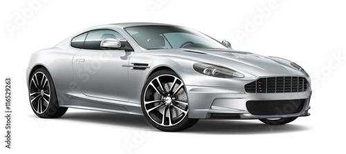Silver coupe car