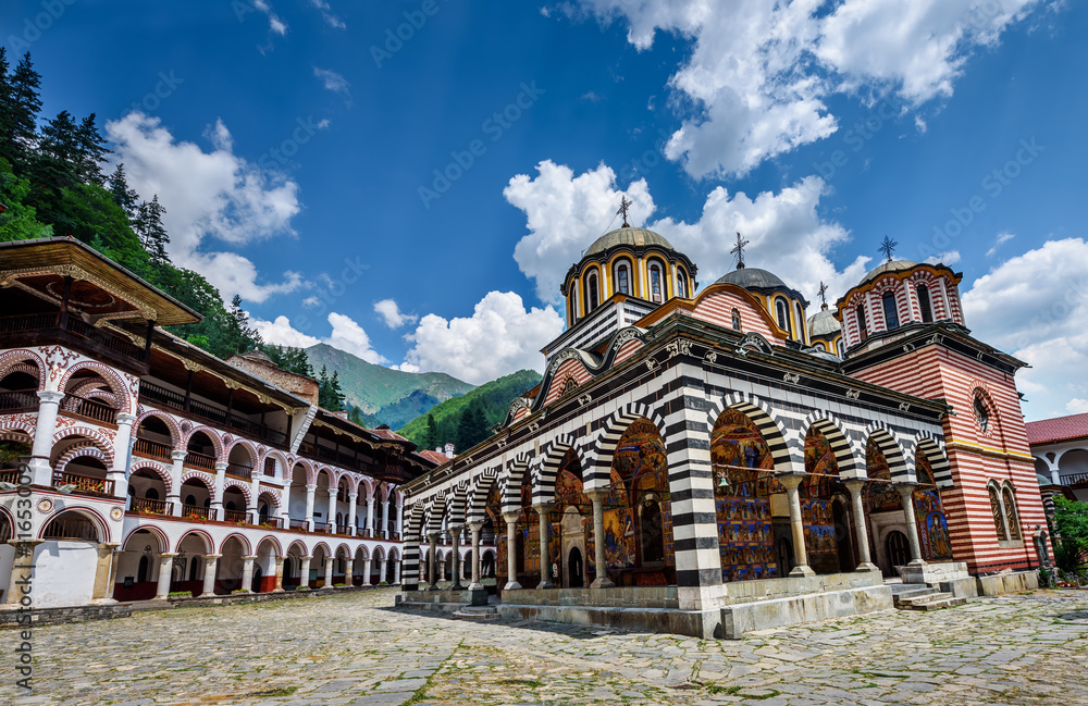 Fototapety, obrazy: Rila monastery, a famous monastery in Bulgaria.