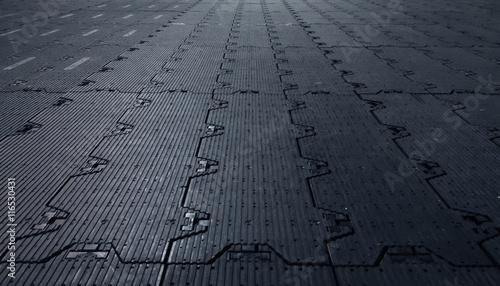 Fotografía  Black background floor rubber sub-genres to cover the premises