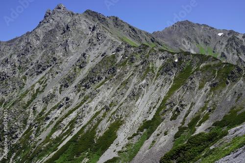 槍ヶ岳  山頂 眺望 北アルプス 登山 空 絶景 チャレンジ 挑戦 #116534635