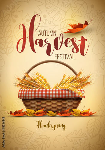 Fotografie, Obraz  Harvest Festival Poster Design