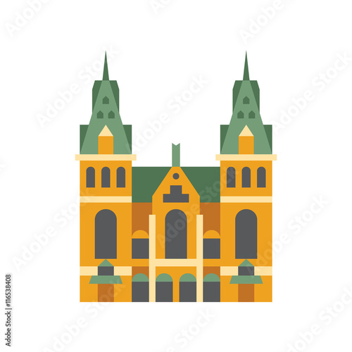 Photo  Holandaise City Hall Building Simplified Icon
