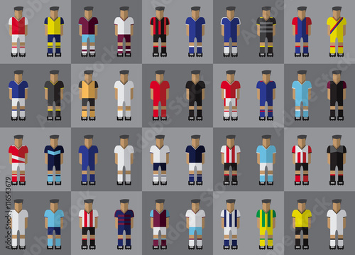 Fotografie, Obraz  English football team kit season 2016/2017