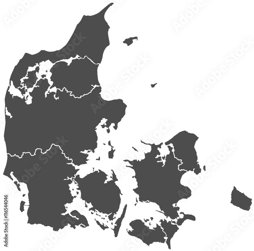 denmark danish map Fototapet