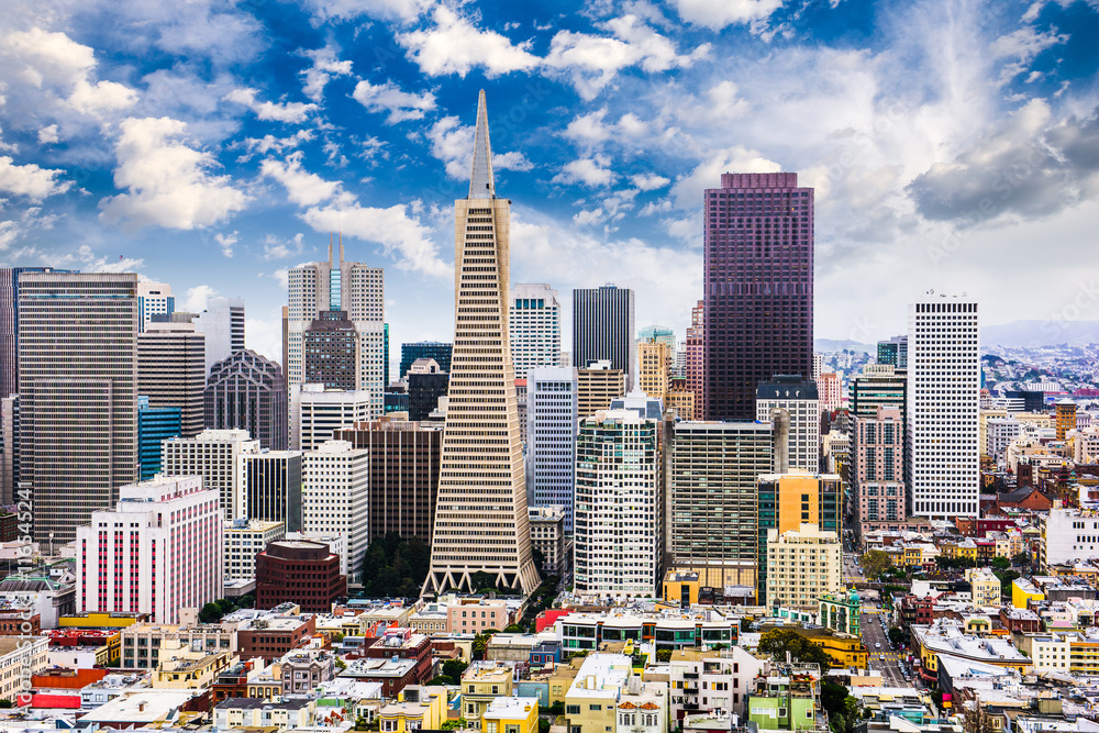 Fototapeta San Francisco, California Skyline