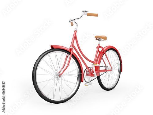 Tuinposter Fiets red bicycle vintage