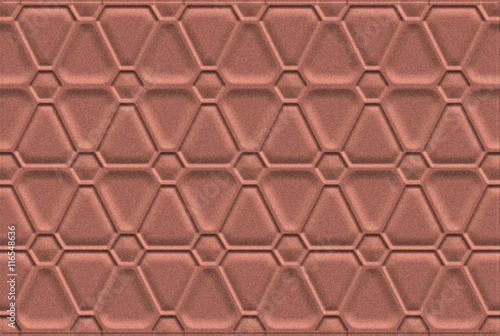 Fotografering  Brown Artistic Background With Dry Brush Pattern