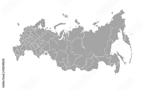 Fotografía  Vector map of Russian Federation on white background