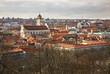 Panoramic view of Vilnius. Lithuania