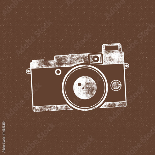 Old Poster Template Isolated On Grunge Halftone Background Photography Vintage Design For T Shirt Tee Web Project