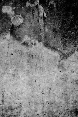 Foto-Lamellenvorhang - Black and White Abstract damaged old grunge cement background,texture,backdrop (von kamolcha)