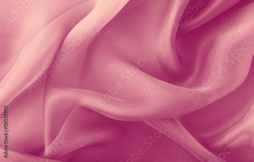 Photo sur Aluminium Tissu abstract pink fabric folds