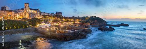 Evening panorama of Biarritz Wallpaper Mural