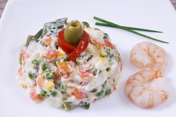 Fototapetarussian salad