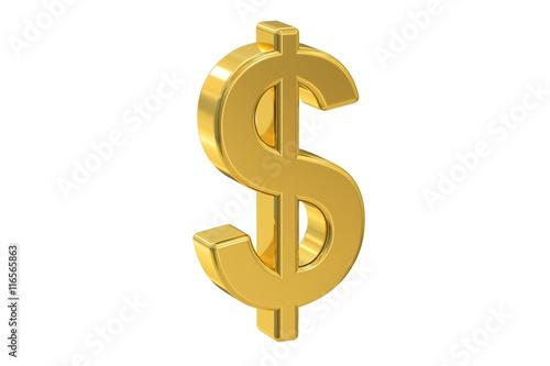 Fotografia, Obraz  dollar symbol, 3D rendering