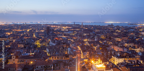 Foto op Aluminium Napels General view of Venice from above at sunset