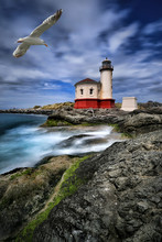 Image Of A Lighthouse In Orego...