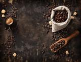 Fototapeta Kawa jest smaczna - Coffee composition