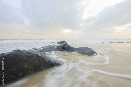 Printed kitchen splashbacks Glaciers landscape of sea and cloudy sky on windy day ; Songkhla Thailand (slow shutter speeds)
