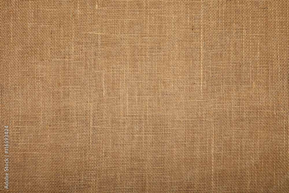 Fototapety, obrazy: Brown burlap jute canvas texture background