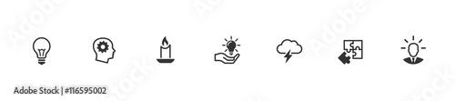 Fotografía  Idea icons set