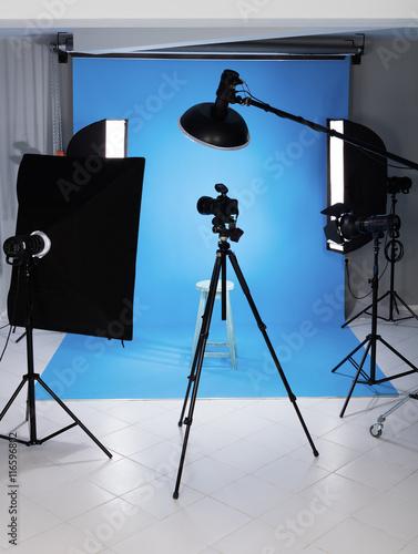 Aluminium Prints Light, shadow Professional photo studio