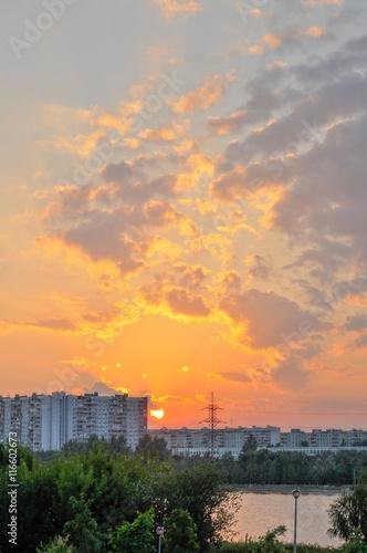 Fototapeta Moscow sunset obraz na płótnie