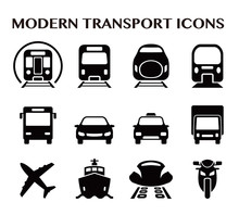 Various Transportation Icon Se...
